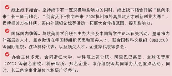 重人才_聚杭州_共成长!2020杭州国际人才交流与项目合作大会!11月8日开幕