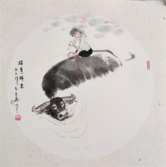 """为""""三牛精神""""造像_――浙籍画家郑齐天小记"""